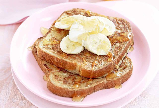 Honey Glazed Banana on Toast